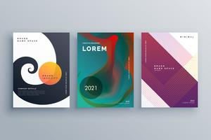 design de brochura comercial abstrata definida em estilo criativo