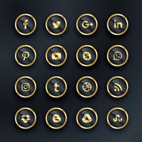 luxury style social media icons pack