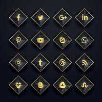 sociale media pictogrammen pack in ruitvorm