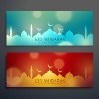 conjunto de dois banners de festival eid