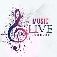 design de modelo de folheto do concerto ao vivo de música