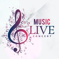 Musik Livekonzert Poster Flyer Vorlage Design