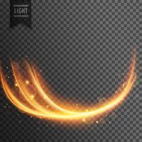 efeito de luz transparente ondulado