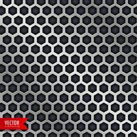 diseño de patrón de panal vector en estilo metálico