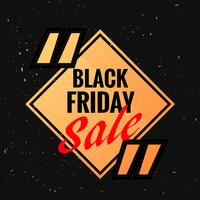 black friday symbol with sale discount option and quotation mark