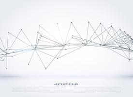 Resumen malla de alambre red digital líneas de fondo