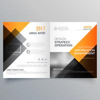Diseño elegante de la plantilla del folleto del folleto con informe anual y