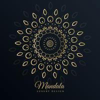 mandala golden design in floral pattern style