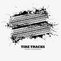 abstract grunge tire tracks with ink splatter background