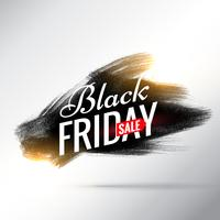 black friday sale poster design with black ink paint stroke