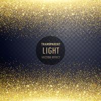transparent golden glitter light effect background