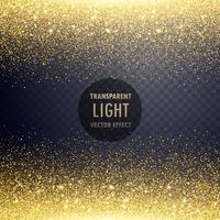 transparent golden glitter light effect background