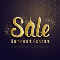Ramadán temporada venta cartel diseño en estilo islámico