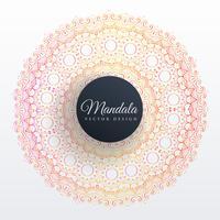 colorful mandala decoration design background