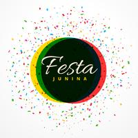 Fondo de celebración de fiesta de fiesta junina con confeti