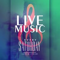 plantilla de diseño de cartel de evento de música en vivo