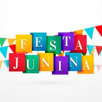 festa Junina vakantie achtergrond met kleurrijke slingers