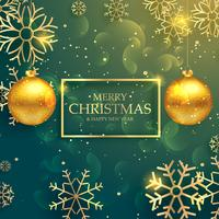 stilvolle goldene Weihnachtskugeln auf Luxusarthintergrund