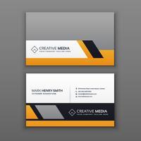modernt visitkortdesign med gul och grå färg