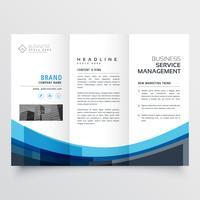 creatief driebladig brochureontwerp voor uw bedrijf