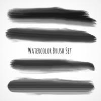 set zwarte aquarel borstels