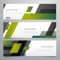 geometric banners set in business style