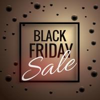 elegant black friday sale poster template with black dots