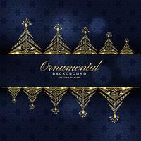 golden ornamental luxury background design