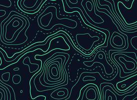 donkere achtergrond met groene topografische contourkaart
