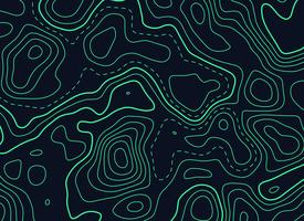 dark background with green topographic contour map