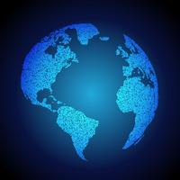fundo azul da terra feito com pontos