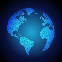 blå jorden bakgrund gjord med prickar