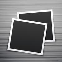 vettore di due cornici di foto