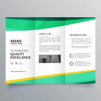 modelo de design de brochura com três dobras criativo para o seu negócio
