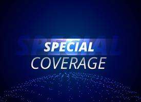 Concepto de fondo de noticias de cobertura especial