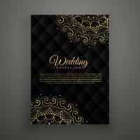 wedding card design in mandala style