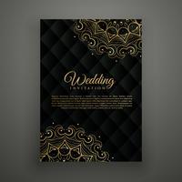 bruiloft kaart ontwerp in mandala stijl