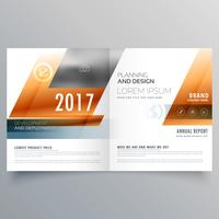 modelo de design de brochura de negócios com formas geométricas