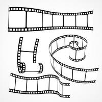 3D-filmrol strip vector set