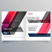 creative bifold brochure design or magazine cover template