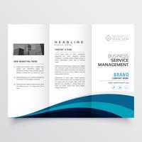 plantilla de diseño de folleto tríptico moderno