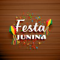 Fondo de celebración de fiesta junina con confeti