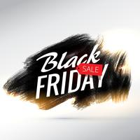 black friday sale poster design with brush paint effect and yell