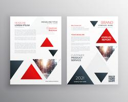 triangle rouge entreprise moderne brochure flyer affiche design templa