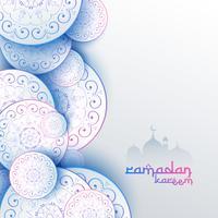 diseño islámico de la tarjeta de felicitación del festival de Kareem del Ramadán