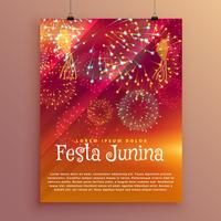 festa junina party poster design vorlage