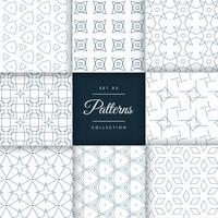 conjunto de padrões geométricos elegantes coleção