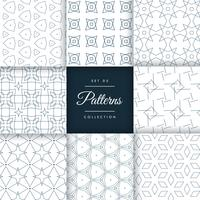 stijlvolle geometrische patronen set collectie