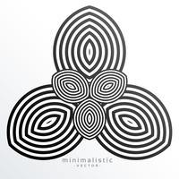 fond de vecteur de forme minimale abstraite