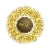 glitter gnistrar bakgrund i cirkelform